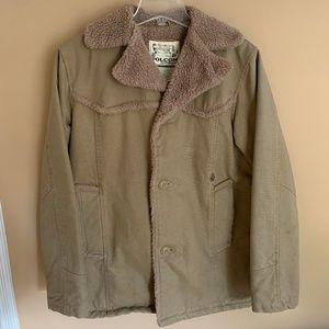 Volcom Workwear Khaki Fleece Lined Jacket